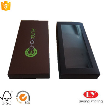 Paper gift packaging drawer box with window