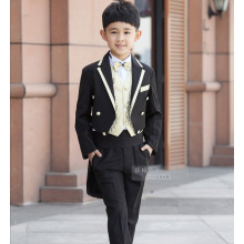 2018 high quality Children Black Tuxedo Set Costume Birthday Fashion Casual Formal Boy Wedding Suits Blazers 4PCS Set
