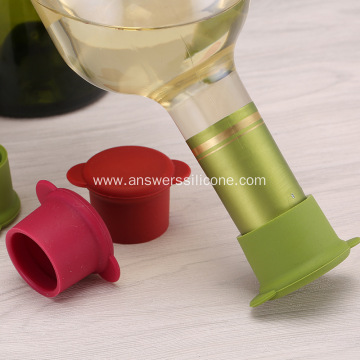 Custom silicone rubber stopper for wine glass bottle