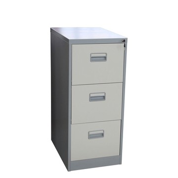 grey two color 3 drawer file cabinet