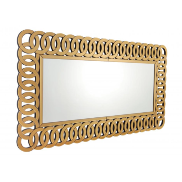 Household mirror with frame for bathroom