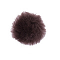 Sheepskin round pad leather with hook side velcro