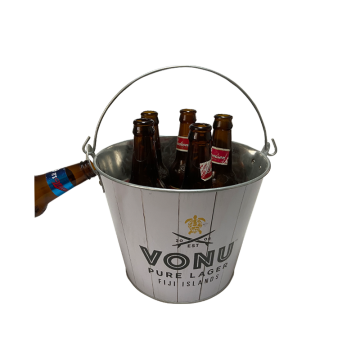 hot sale beer gift galvanized ice bucket with bottle opener