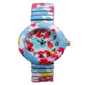 Girls Alloy Wrist Band Flower Watch