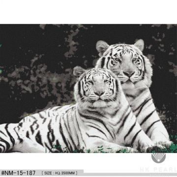 Classic Glass Mosaic Tiger Animal Pattern Craft Mural