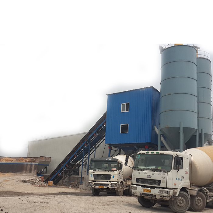 HZS90 ready mixed concrete batching plant in Cambodia