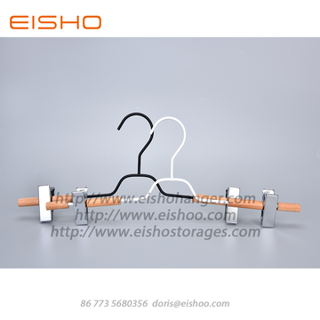 EISHO Small Wooden Metal Pants Skirts Hanger
