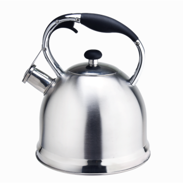 Durable woodlike handle stovetop capsulated bottom teakettle