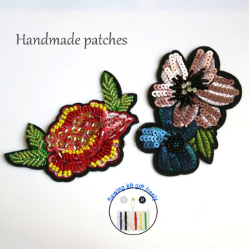 Fashion 4 in 1 bead Embroidery Patches Sequins