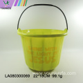 Halloween plastic kid candy pumpkin bucket