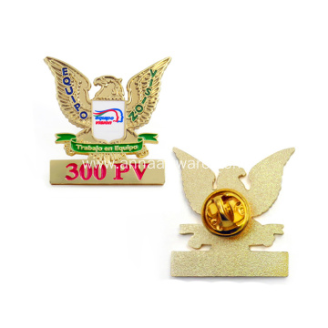 Custom Enamel Metal Gold Eagle Military Badges