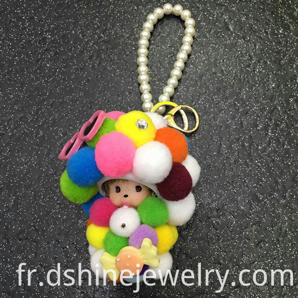 DIY Rainbow Ball Keyring