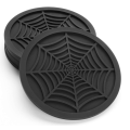Custom Unique Design Spider Web Silicone Drink Coasters