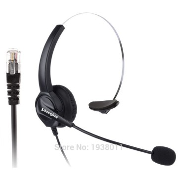 NEW Additional 1 PCS EAR PAD +RJ9 plug headset Call center office headset ONLY for CISCO Telephone 6921 7960 7960 8941 8945 etc