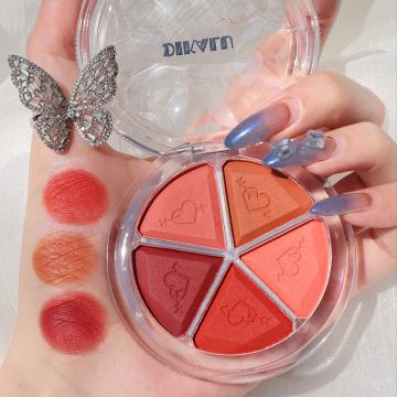 Five-color Petal Blush Eyeshadow Bean Paste Earth Matte Pearlescent Lazy Waterproof Eyeshadow Palette Women Makeup Shimmer TSLM2