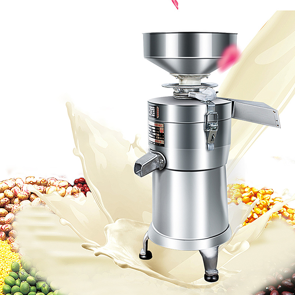 Electric Soybean Milk Machine Ginder Semi-automatic Juicer Commercial SoyMilk Filter-free Refiner Soymilk Machine Blender