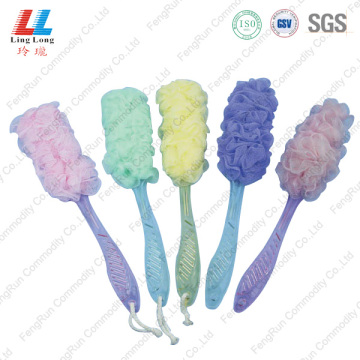 mesh long luffa shower bath brush set