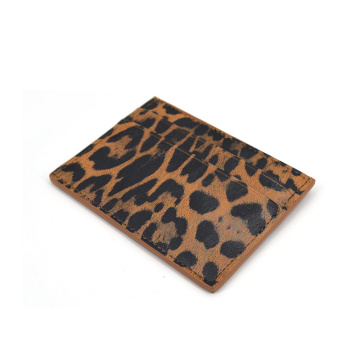 Wholesale Luxury Leopard Pattern Leather Card Holder