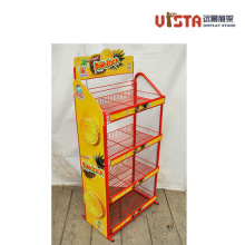 Metal Wire Mesh Snack Food Storage Display Stand