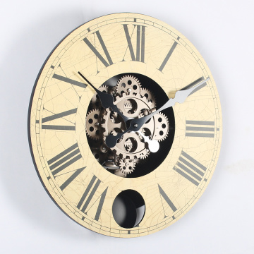 14 Inch Wood Gears Wall Clocks