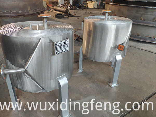 Spiral plate heat exchanger for food