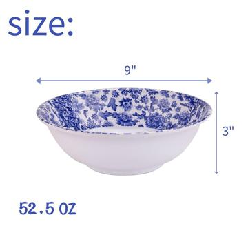 "9"" Melamine Shallow Bowl set of 6"