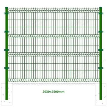 PVC coated welded 3d curved wire mesh fence with square- type post factory and exporter for garden