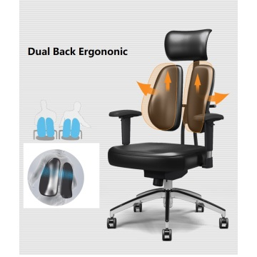 Dual back healthcare ergonomics office chair