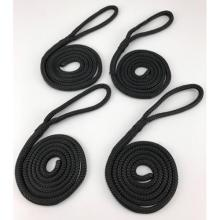 black 3/8'' double braided polyester rope