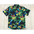100% Polyester printing hawaii shirt