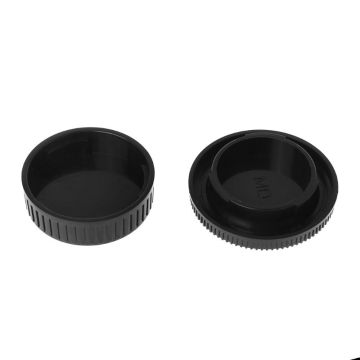 Rear Lens Body Cap Camera Cover Set Dust Screw Mount Protection Plastic Black Replacement for Minolta MD X700 DF-1