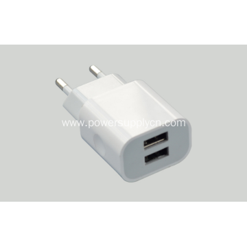 5V2100MA Dual USB Portable Phone Travel Charger