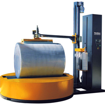 Roll type stretch wrapping machine