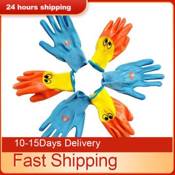 Waterproof Garden Gloves Work for Kids Children Protective Gloves Anti Bite Cut Protector Planting Work Gadget Accessories