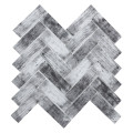Herringbone Subway Wood Look Glass Mosaic