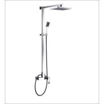 European style square hot and cold shower faucet