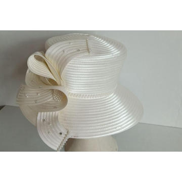 Wide Brim Women's Satin Ribbon Church dress hats
