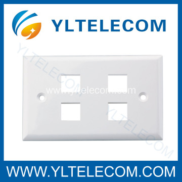 Wall Face Plate RJ45 Four Port 4 Port 70*115MM