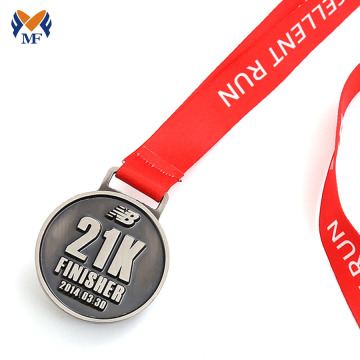 Custom run with finisher enamel medals
