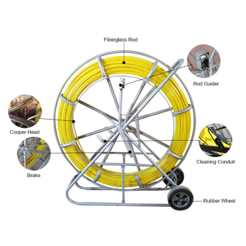 8mm*200m Yellow Rod Fiberglass Duct Rodder For Cable Laying Work Hot Sale in Europe