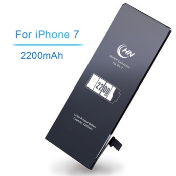 Super alta capacidade 2200mAh iphone 7 bateria