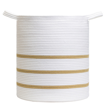 Promotional cotton rope basket toys jute hemp storage
