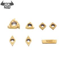 DANIU 7pcs Turning Tool Carbide Inserts for 12mm Shank Lathe Boring Bar Turning Tool Holder Set Kit Accessories