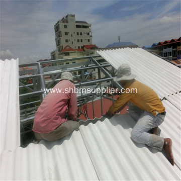 No-asbestos heat-resistant Anti-UV MgO Cement Roofing Sheets