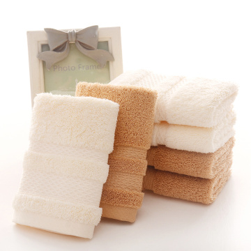 Square Cotton Towels with Satin