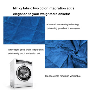 8kg Per Pcs Minky Plush Weighted Blanket