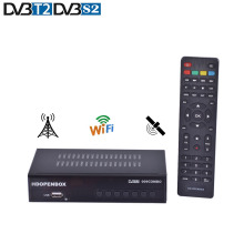 HDOPENBOX Satellite TV Receiver Combo TV BOX DVB T2/DVB S2 H.264 Satellite Receiver Support CA Receptor