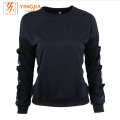 Women's Long Sleeve Arm Bow Decorative Pullover Sweatshirt