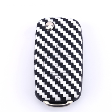 Carbon Fiber Silicone car key case for VW
