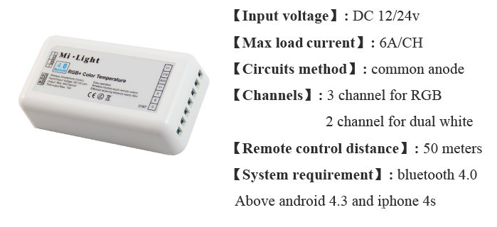 Mi Light Use Remote Led RGBW Color Controller